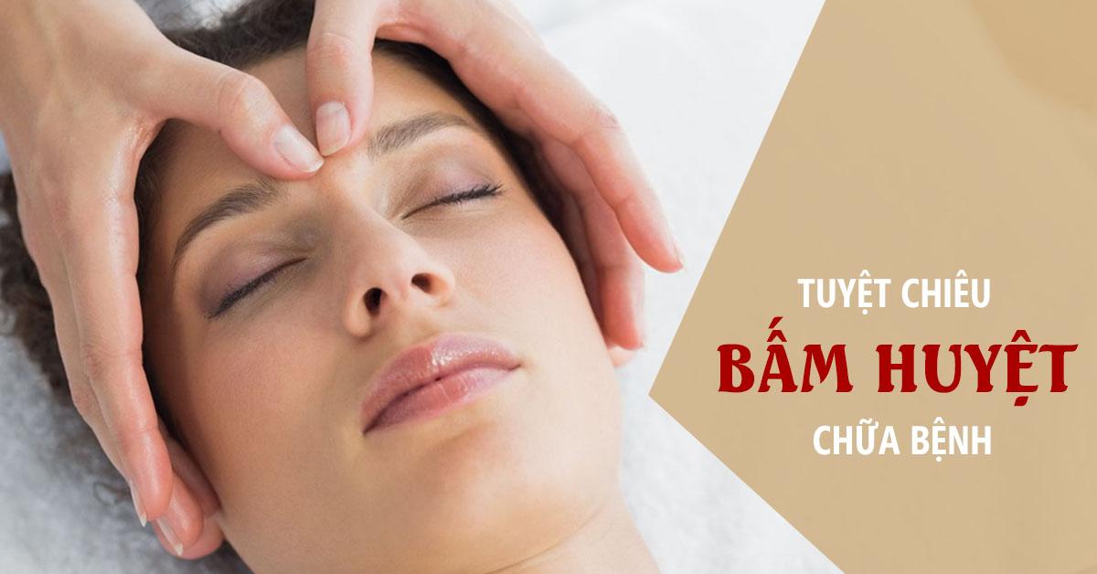 Cách massage bấm huyệt làm sáng mắt