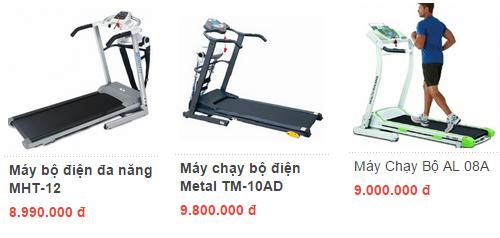 Mua máy chạy bộ điện cần bao nhiêu tiền